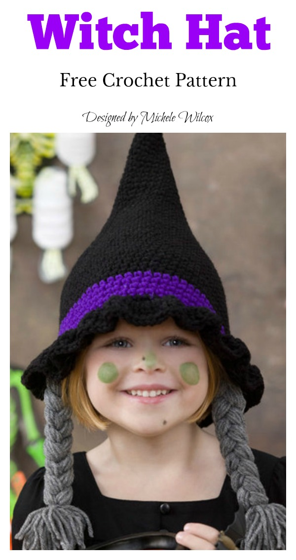 Adorable Witch Hat Halloween Costume Free Crochet Pattern