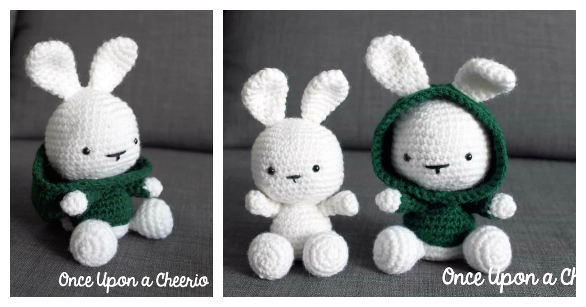 Classic Amigurumi Bunny Crochet Pattern - Once Upon a Cheerio | 630x1202