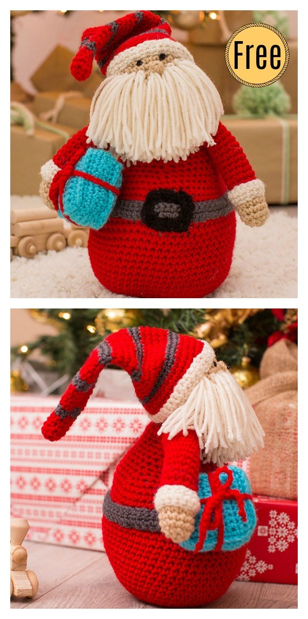 Amigurumi Huggable Santa Pillow Free Crochet Pattern