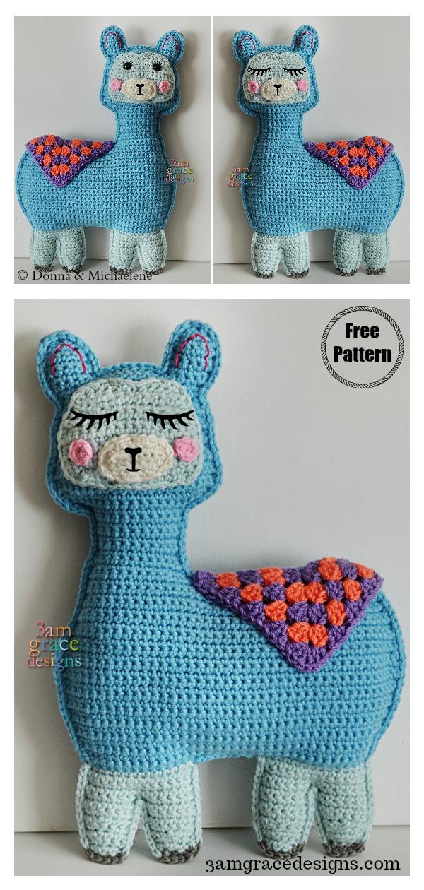 Amigurumi Llama Kawaii Cuddler Free Crochet Pattern