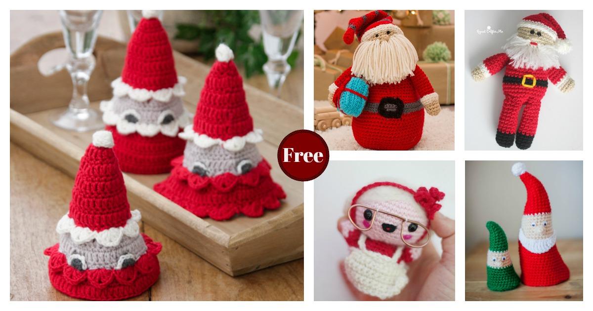 Crochet Amigurumi Santa & Snowman Christmas Ornaments Free Pattern ... | 630x1200