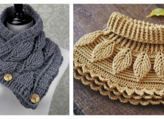 Autumn Leaf Cowl Free Crochet Pattern and paid