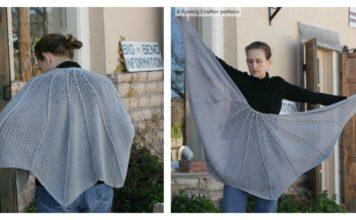 Bat Wing Shawl Free Crochet Pattern