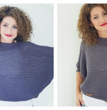 Batwing Sweater Free Crochet Pattern and Video Tutorial