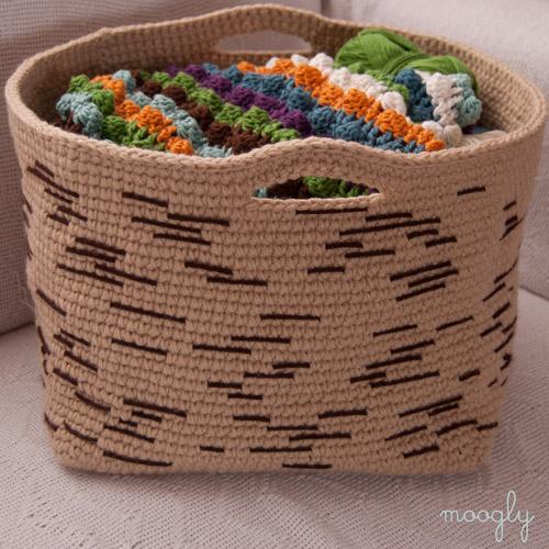 Birch Bark Basket Free Crochet Pattern