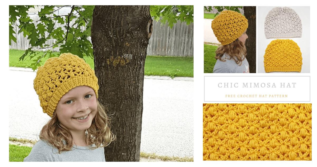 f84540e0ba8 Chic Mimosa Hat Free Crochet Pattern