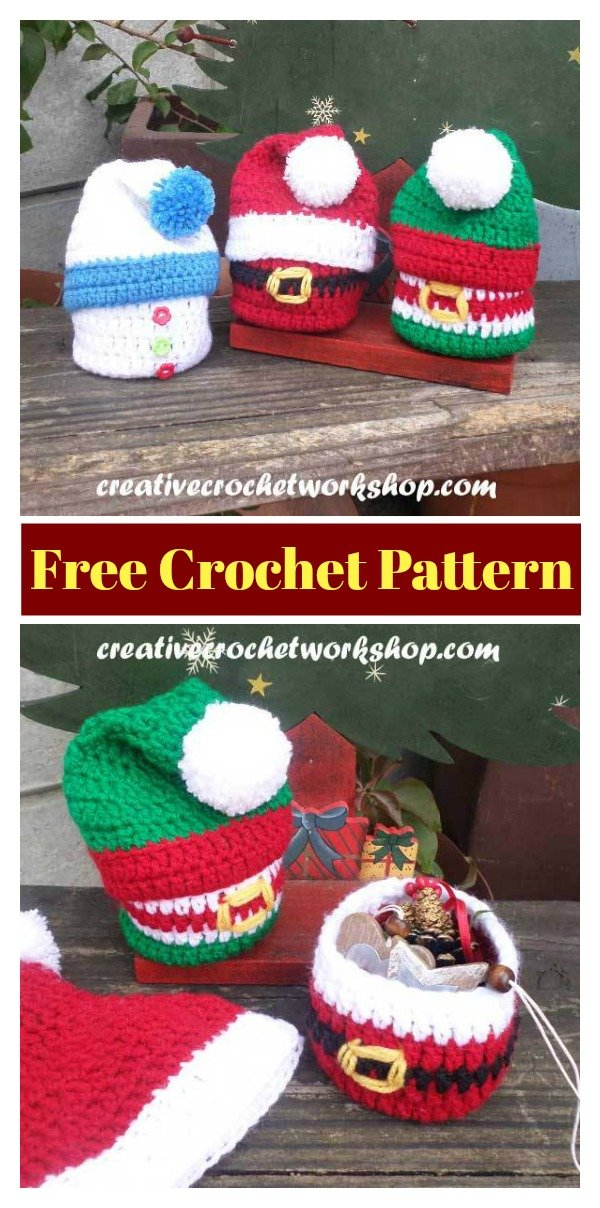 Christmas Gift Basket Free Crochet Pattern