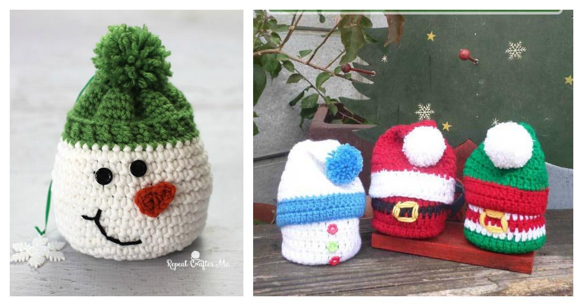 & Christmas Gift Sack Bag Free Crochet Pattern