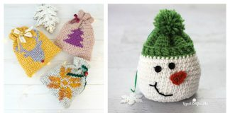 Christmas Gift Sack Bag Free Crochet Pattern