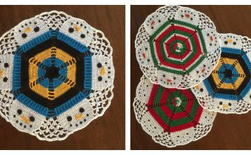Christmas Snowmen Doily Free Crochet Pattern