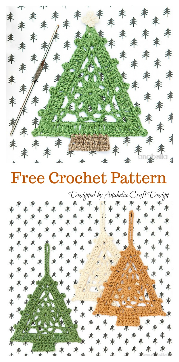 Christmas Tree Motif Free Crochet Pattern