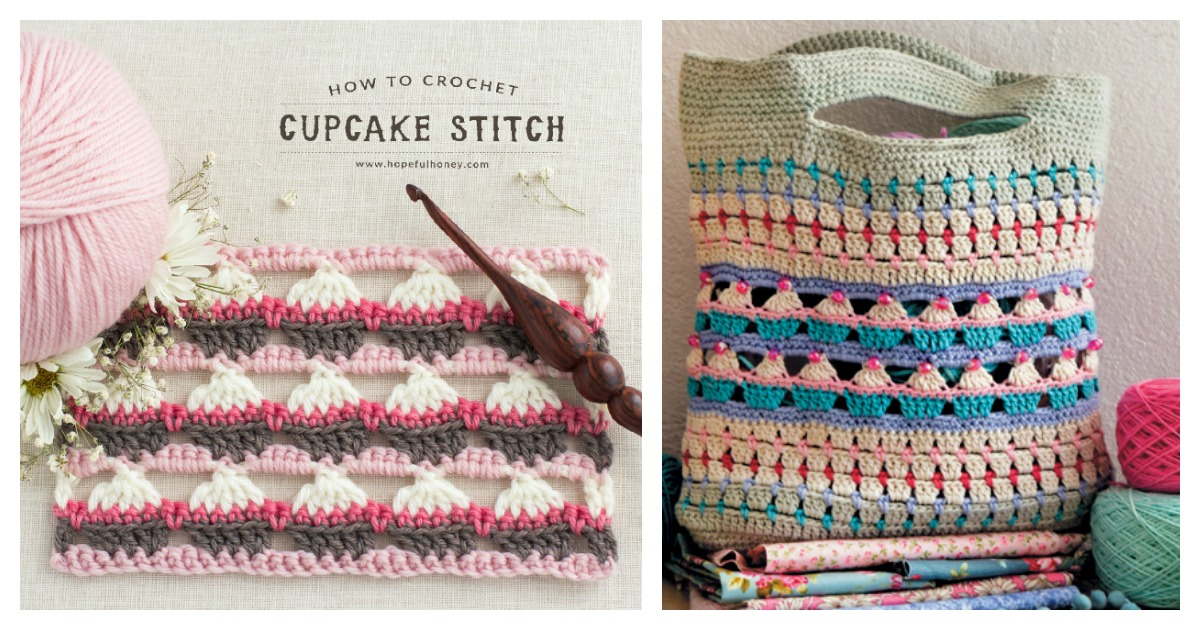 Cupcake Stitch Free Crochet Pattern And Video Tutorial