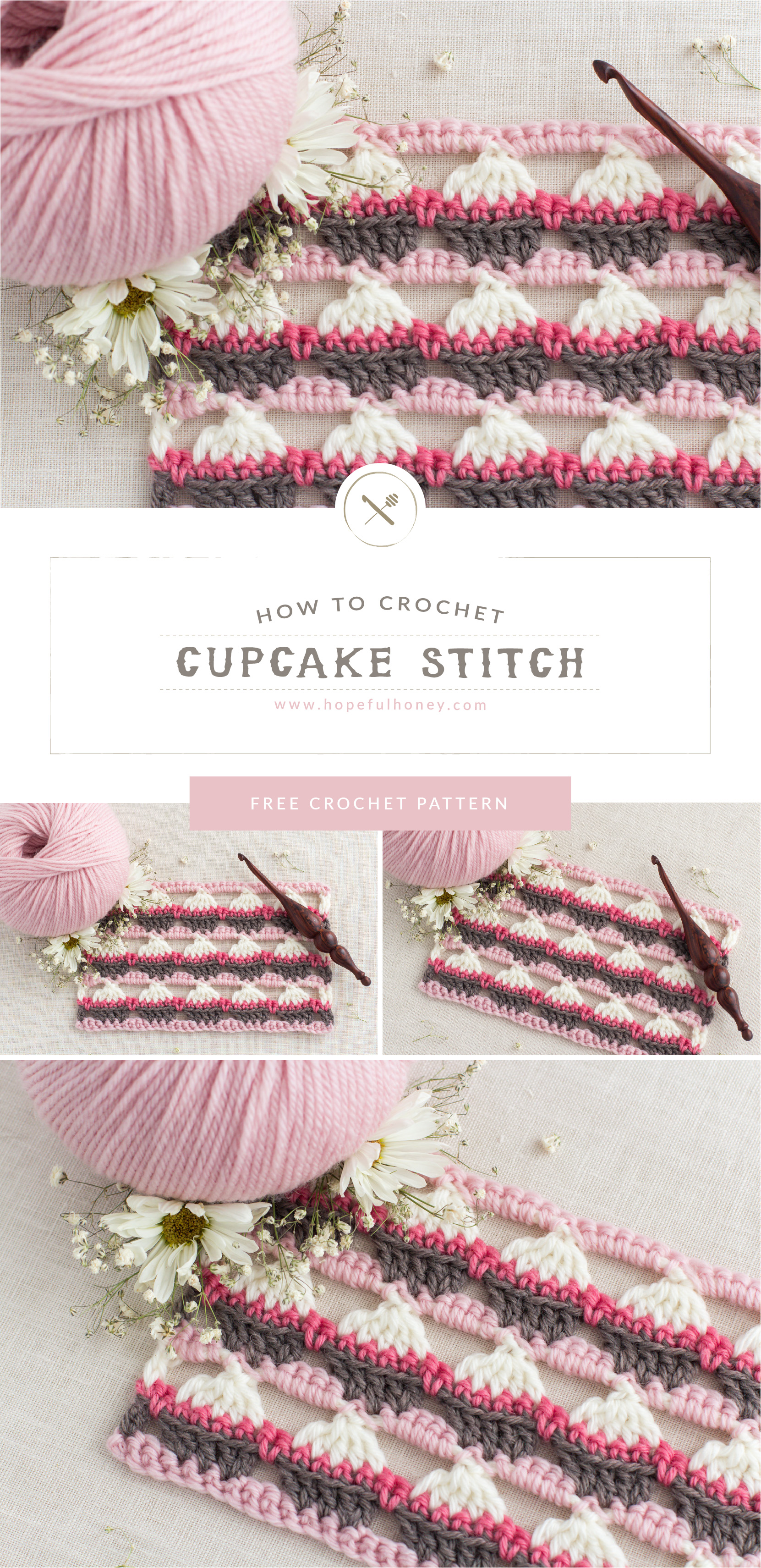 Cupcake Stitch Free Crochet Pattern And Video Tutorial