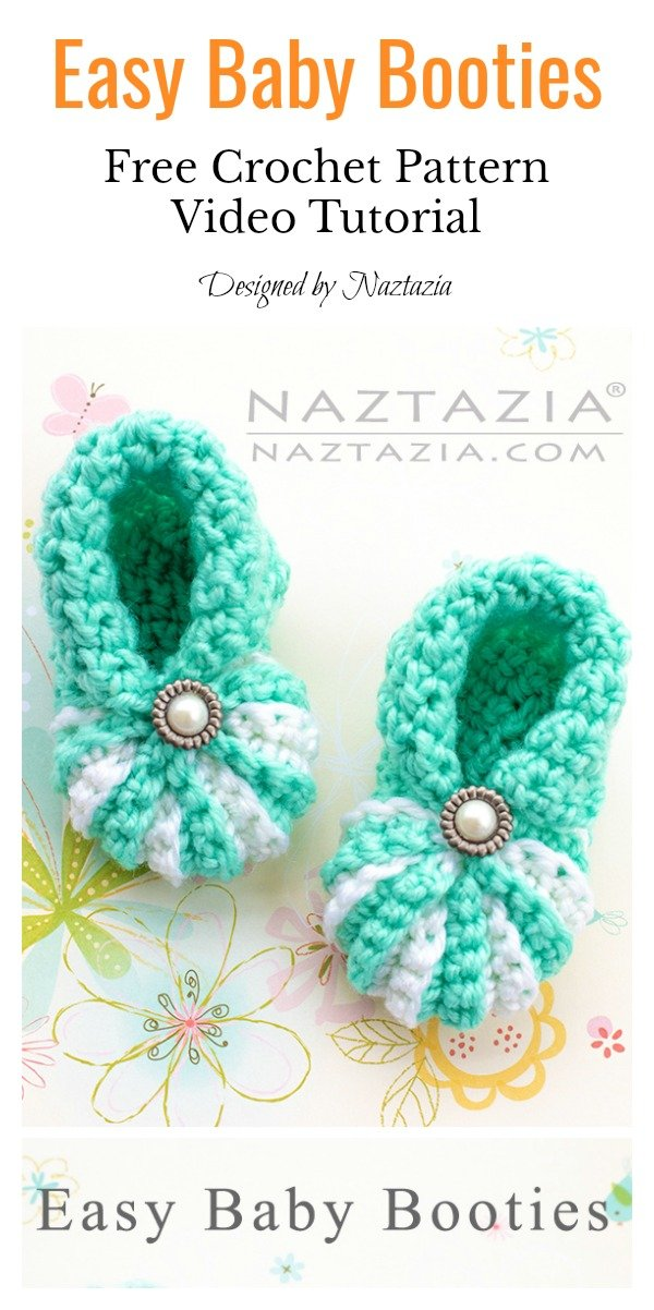 Easy Baby Booties Free Crochet Pattern And Video Tutorial Cool