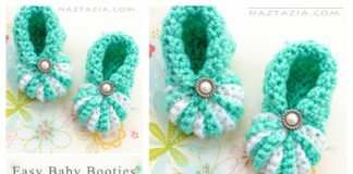 Easy Baby Booties Free Crochet Pattern and Video Tutorial
