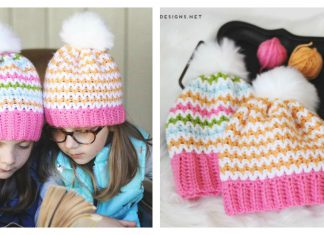 Easy V Stitch Hat Free Crochet Pattern and Video Tutorial