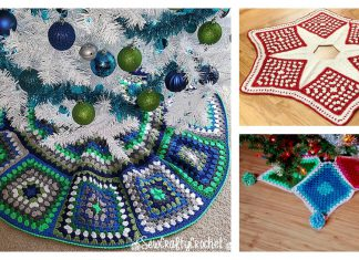 Granny Christmas Tree Skirt Free Crochet Pattern