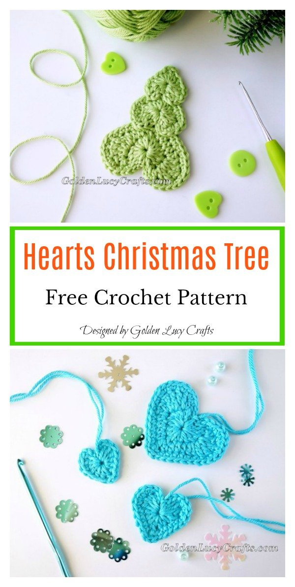 Hearts Christmas Tree Free Crochet Pattern