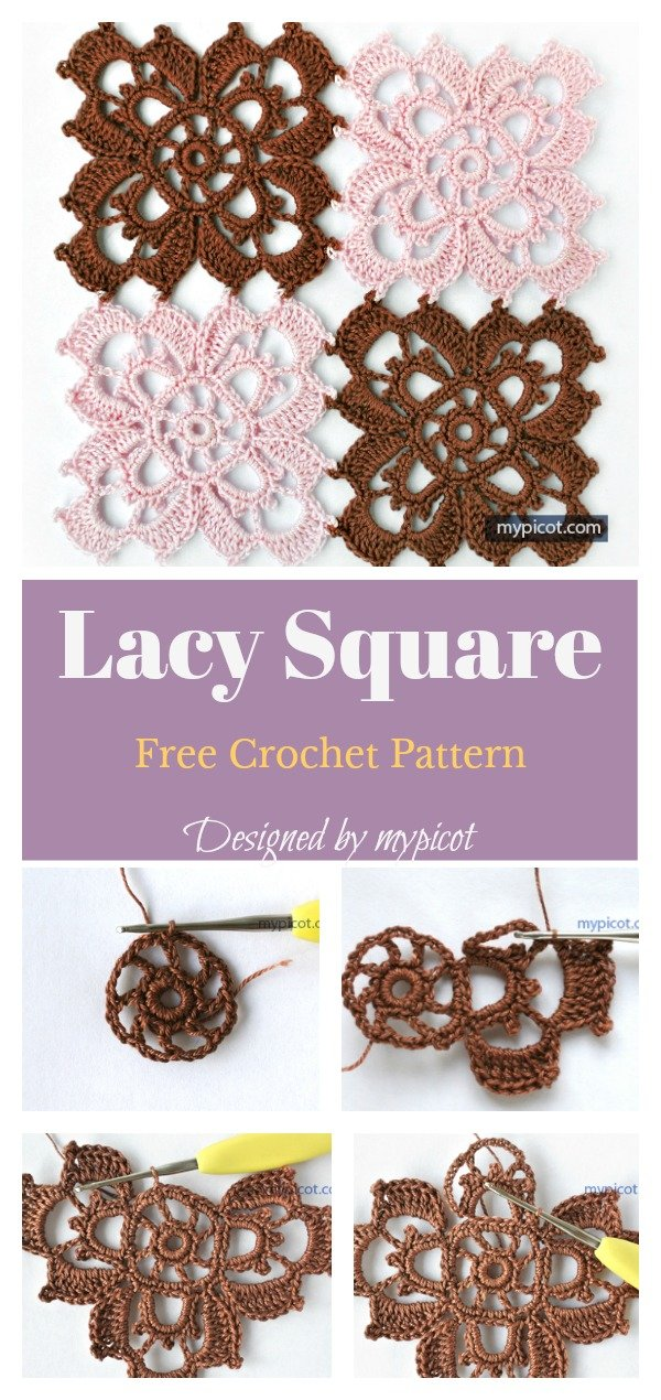 Lacy Granny Square Free Crochet Pattern
