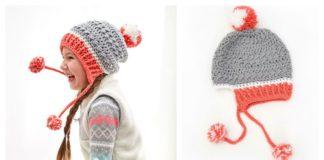 Little Miss Pompom Hat Free Crochet Pattern