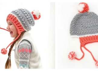 Little Miss Pompom Hat Free Crochet Pattern