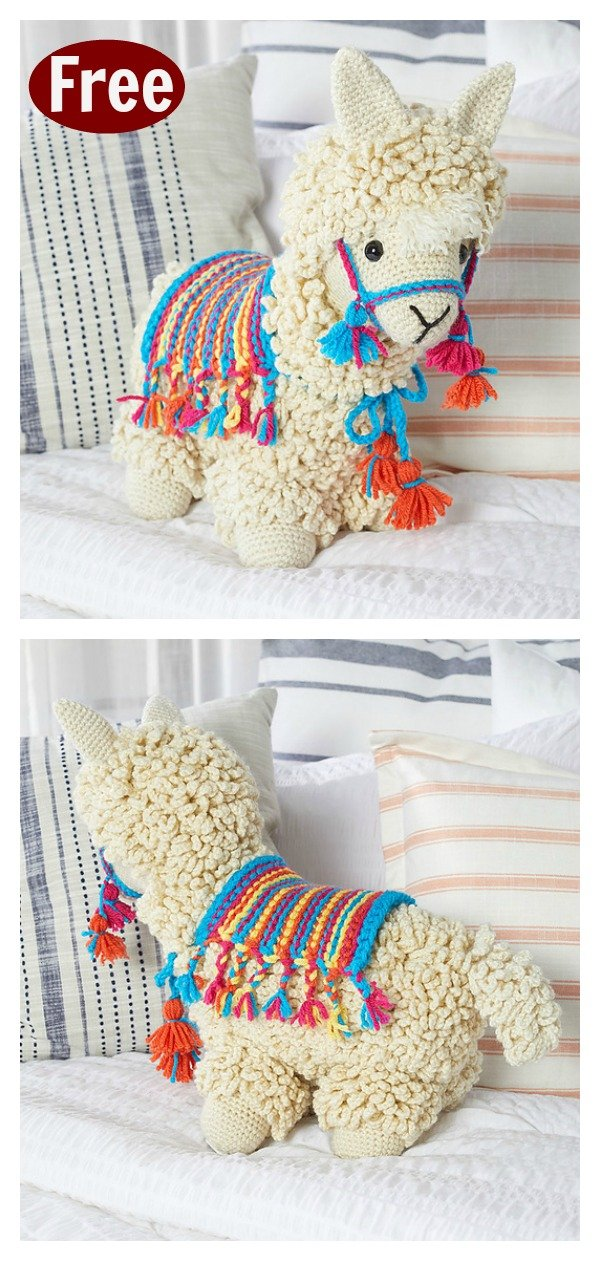 This alpaca is made mostly of one piece. | Crochet patterns ... | 1261x600