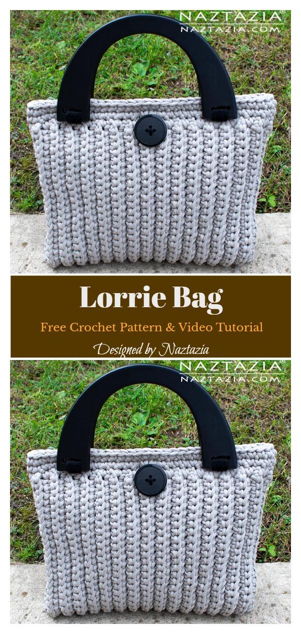 Lorrie Bag Free Crochet Pattern and Video Tutorial
