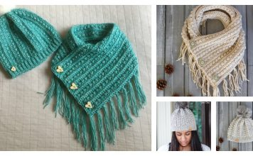 Malia Buttoned Cowl and Beanie Free Crochet Pattern
