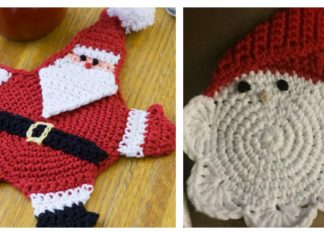 Mr Claus Coaster Free Crochet Pattern