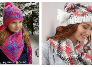 Planned Pooling Hat and Cowl Set Free Crochet Pattern
