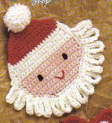 Santa Coaster Free Crochet Pattern