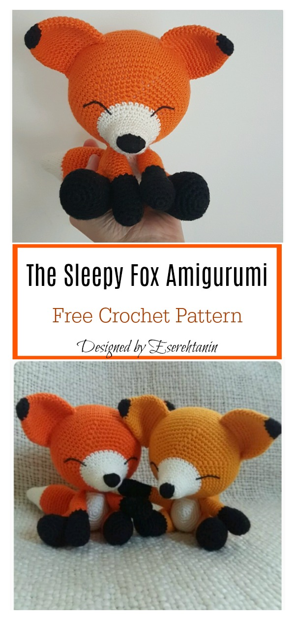 The Sleepy Fox Amigurumi Free Crochet Pattern