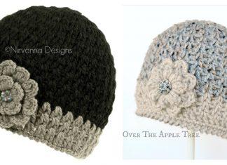V Stitch Hat Free Crochet Pattern
