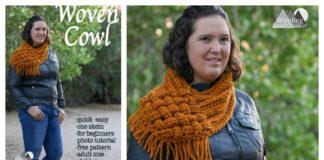 Woven Cowl Free Crochet Pattern