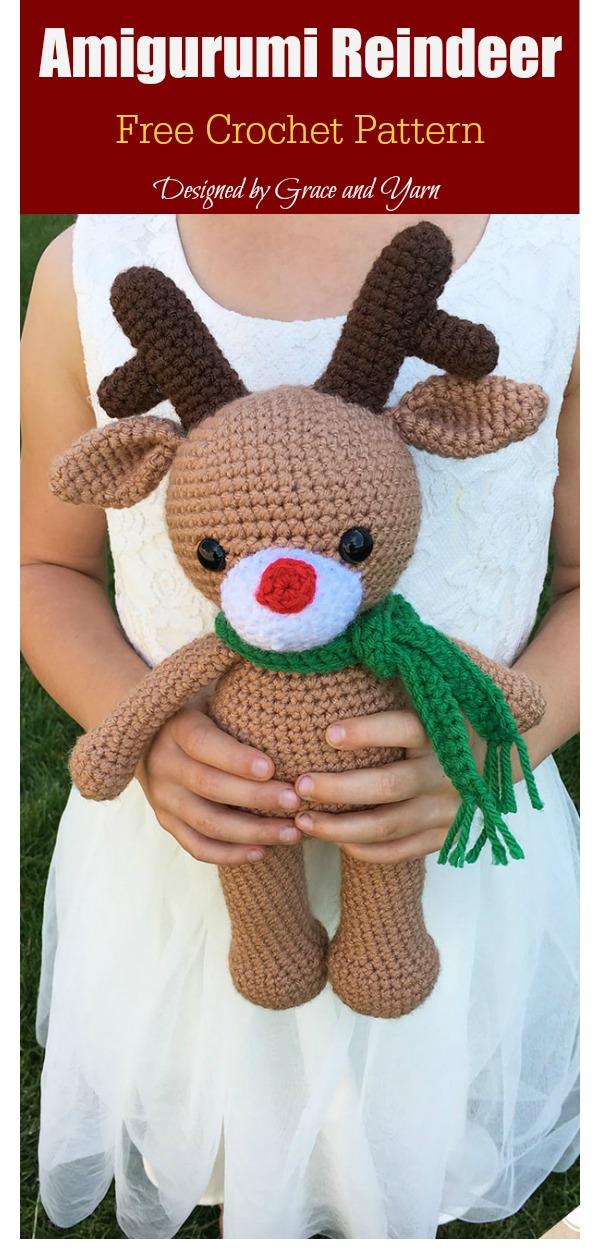 Amigurumi Christmas Reindeer Free Crochet Pattern