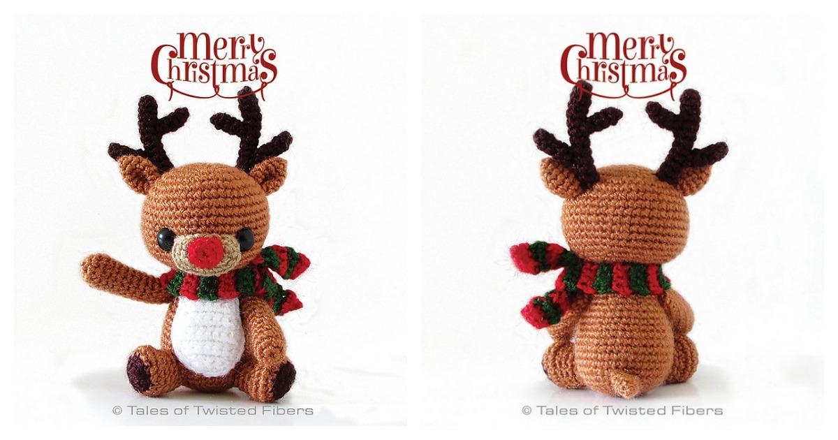 christmas amigurumi pattern pdf pdf Christmas crocheted stuffed reindeer boy and girl Christmas reindeer crochet pattern