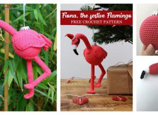 Amigurumi Flamingo Ornament Free Crochet Pattern