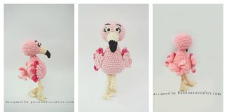 Amigurumi Flamingo Ornament Free Crochet Pattern