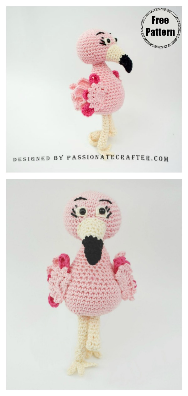 Amigurumi Flamingo Soft Toy Free Crochet Pattern
