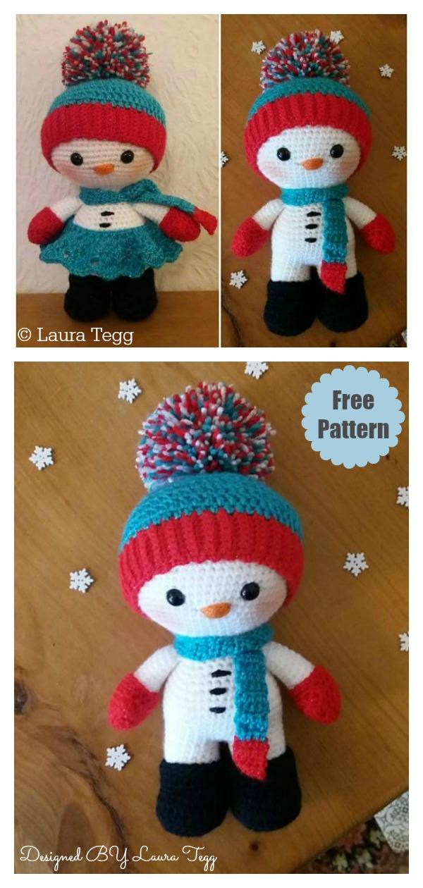 Amigurumi Snowman Doll Free Crochet Pattern