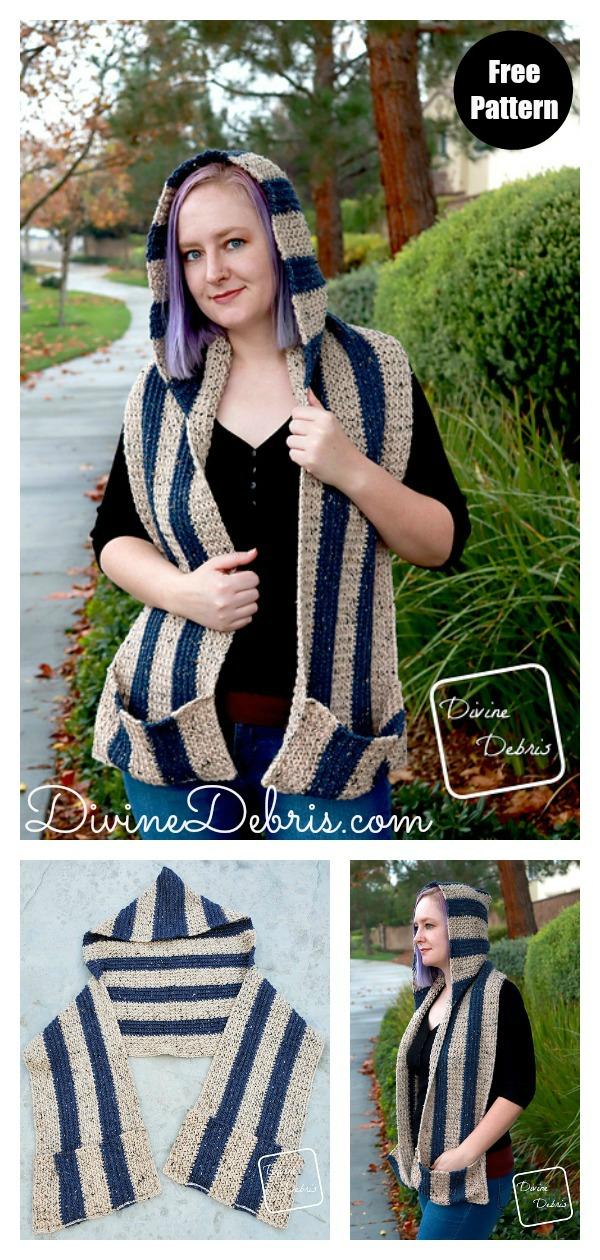 Artemis Hooded Scarf Free Crochet Pattern