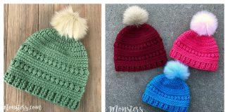 Bead Stitch Hat Free Crochet Pattern