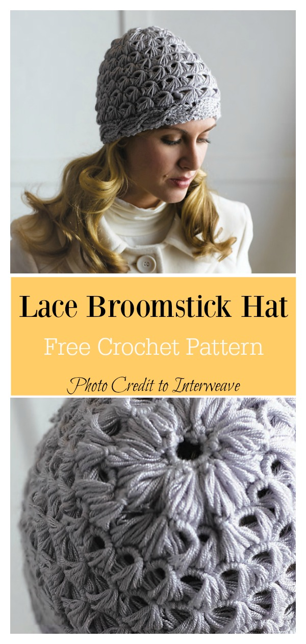 Broomstick Lace Hat Free Crochet Pattern