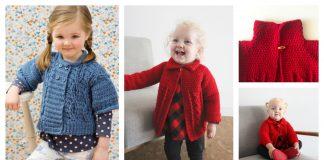 Cable Twist Baby Sweater Free Crochet Pattern