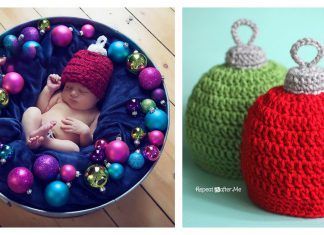 Christmas Ornament Hat Free Crochet Pattern