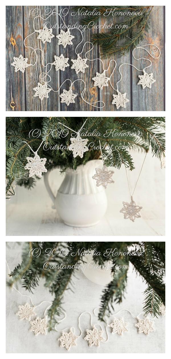 Christmas Star Garland Free Crochet Pattern
