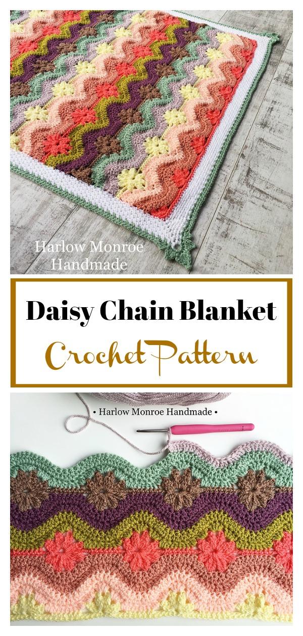 Daisy Chain Blanket Crochet Pattern