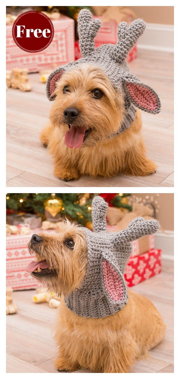 Doggie Deer Snood Free Crochet Pattern
