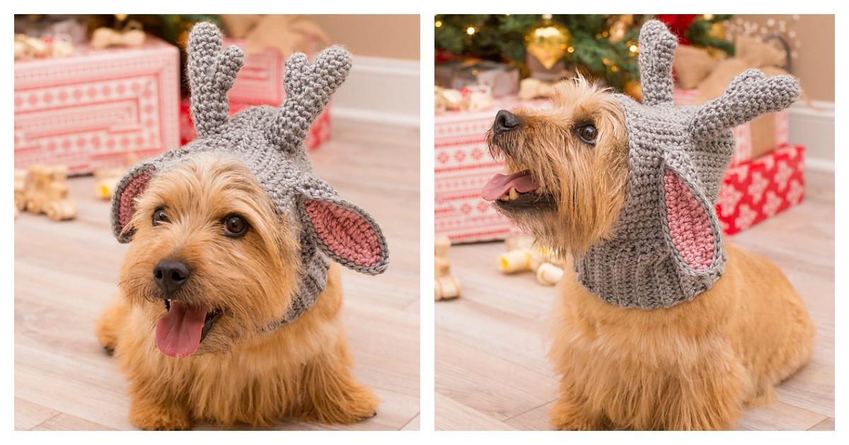 Doggie Deer Snood Free Crochet Pattern