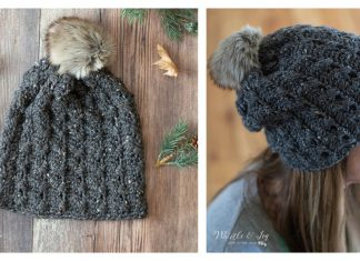 Easy Faux Cables Hat Free Crochet Pattern